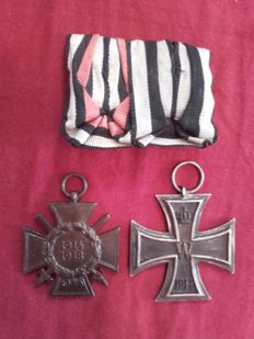 Medal clasp Iron Cross and Combatant's cross of honour Germany World War I