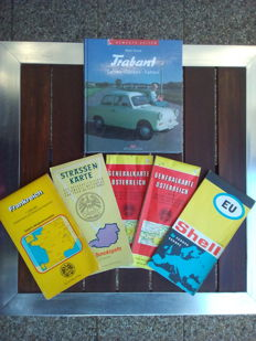 Great Book TRABANT- Fahren Tanken Fahren and 4 pcs old OAMTC, 1 pcs old Shell road map