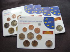 Germany - year pack 2012 A, D, F, G, J, including 5x 2 Euro Neuschwanstein and 10 years Euro