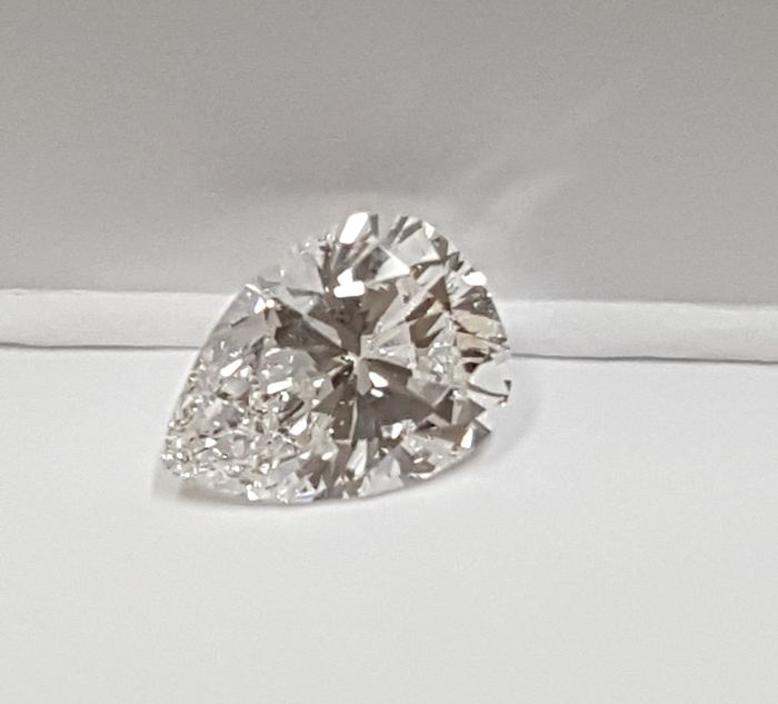 Diamond - 0.91 ct - Pear - D (colourless) - IF (flawless)
