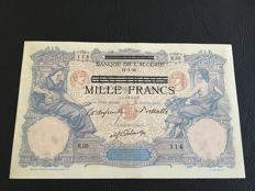 Tunisia - German Occupation WWII - 1000 francs on 100 Francs ND (1942-43) - Pick 31
