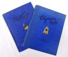 Olympics 1936 collection picture album volume 1 and volume 2 complete