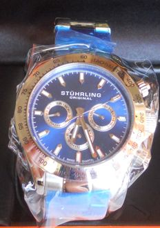 Stührling Original Raceway Cronograph Wristwatch Blue/Silver