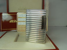 Silver plated Dupont lighter (large model), horizontal line