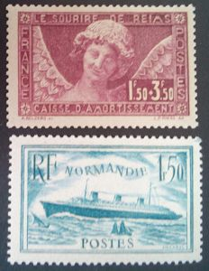 France 1930-36 - Selection of 2 stamps, signed Calves with digital certificates - Yvert no. 256 and 300