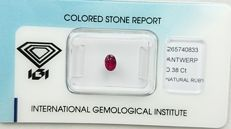 Ruby – 0.38 ct – No reserve price