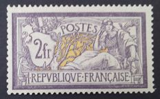 France 1920 – Merson 2f. purple and yellow, signed Brun – Yvert no. 122