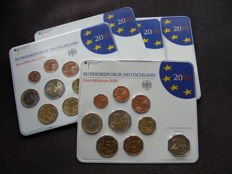 Germany - year pack 2010 A, D, F, G, J, including 5x 2 Euro Bremen