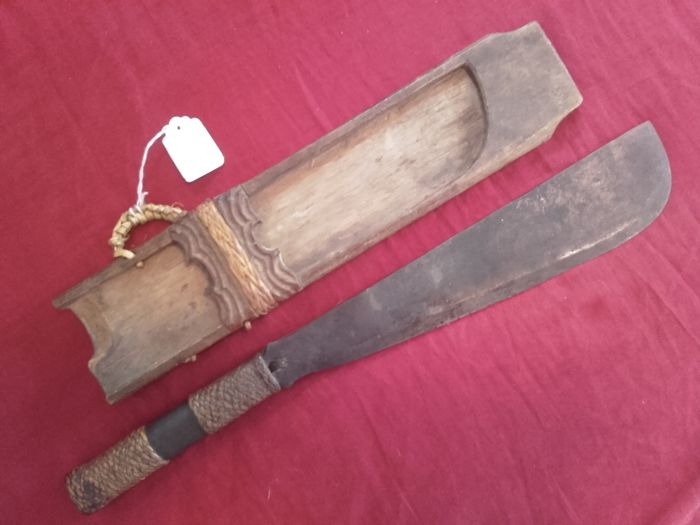 Barong/machete of the natives, Borneo, around 1900, provenance: Baron von Hochstetter, Düsseldorf