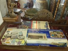 3 oldies consol retro-gaming collector: Video Game GT-3300 / Commodore 64 Micro Computer /Philips Videojeu N20 1980's