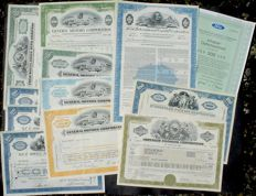 12 x US Cars, Ford Motor, General Motors, Chrysler, Packard + Brill Motors