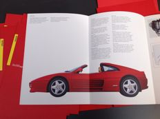 Ferrari 7 brochures in portfolio - original Ferrari Press Kit Brochure with 7 folding brochures of 7 models - 1994, bilingual. Italian/English, including the 6 slides of very high quality