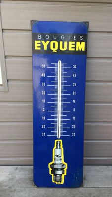 "Enamel Thermometer for ""Eyquem"" spark plugs - Original 1950s"