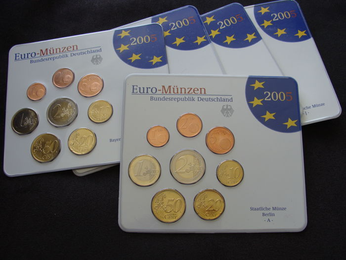 Germany – Year pack 2005 A, D, F, G, J - 5 coins