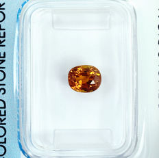 Orange sapphire - 1.17 ct, no reserve price