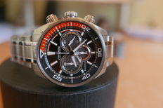 Citizen Men's Eco-Drive Orange and Black Chronograph Watch,