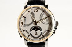 Maurice Lacroix Masterpiece Moonphase Lune Rétrograde Yellow Gold - Heren polshorloge