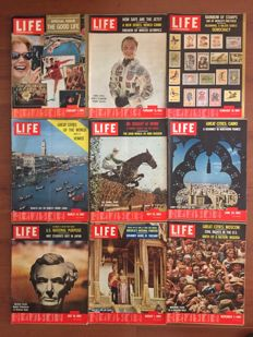 "Magazines; Lot with 45 loose issues of ""Life International"" - 1960 / 1965"