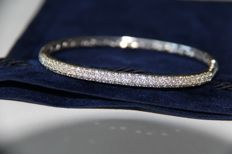 18k White Gold brilliant cut Diamonds Bracelet - 1.55 ct, H, VS