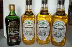 4 bottles - Glen Grant 5 years old 1981 (75cl) & Glen Grant 5 years old 1985 x 2 (1 Litre) & Bell's 12 years old  (75cl)