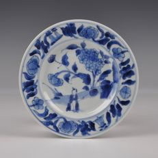 Blue White Transitional Saucer - China - Ca. 1650