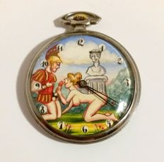 SWISS - erotic pocket watch with automatic animation - ca. 1900-1920