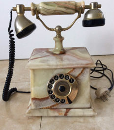 Marble Telephone in good working order, second half 20th century,