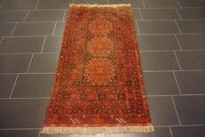 Beautiful old carpet Afghan made in Afghanistan 105 x 190 cm