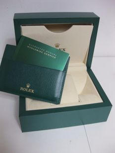 Rolex – Green box with wave design and beige outer box – Model 39137.02.
