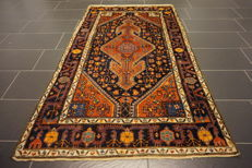 Unique Persian carpet Malayer natural colours made in Iran 125 x 205 cm 'very good'