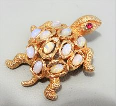 Signed PANETTA Turtle brooch