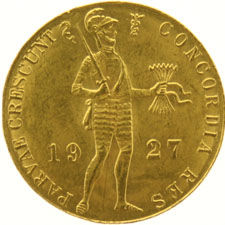 The Netherlands – ducat 1927, Wilhelmina, gold
