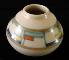 Kennemer Potterie Velsen - Art Deco ornamental vase with 'cubes' decor