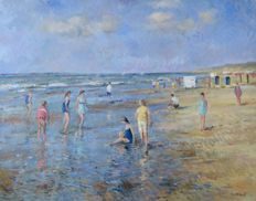 Van Noort (20e eeuw) - A beach in Holland