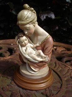 Madonna with child, signed A. Santini - Italy - second half 20th century