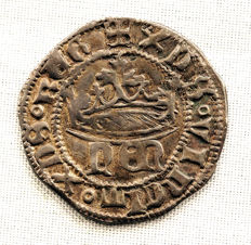 Spain – Medieval – Enrique IV (the Helpless) – 1/2 Silver real – (1454 – 1474) – Segovia