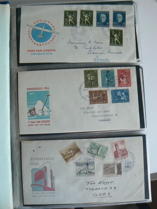 Nederland 1956/1992 - Collectie FDC's in 2 Importa albums