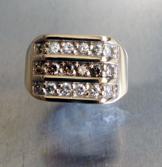 Vintage 9ct. Gold Diamond Set Signet Ring