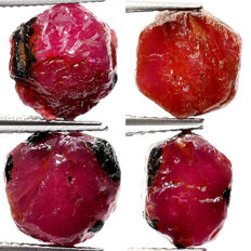 Lot of Unheated Ruby - 27.25 ct (4)