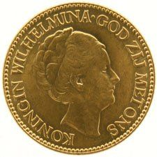 The Netherlands – 10 guilder coin 1925,Wilhelmina, gold