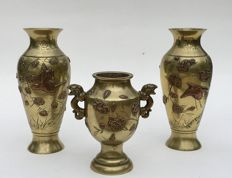 Antique set of bronze jars, Japan, circa 1900 (Meiji era)