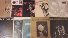 Lot of fantastic 9 old Jazz LP Album. Very rare to get.  All in vg+ to near mint condition.