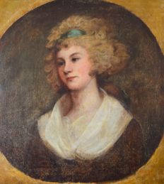 Unknown. (18th century) A portrait of an attractive young woman.
