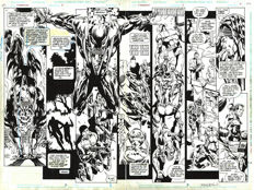Mark McKenna - Original Art Plate - Firebrand #5 - DC Comics - Pages 2 & 3 - Double Splash - Signed - (1996)