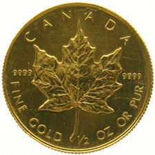 Canada – 20 Dollars 1989 'Maple Leaf' – ½ oz gold