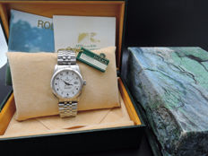 1987 ROLEX DATEJUST 16014 SS ORIGINAL WHITE BOILER GAUGE DIAL WITH PAPER