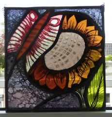 Stained glass-window decoration by Ivo Bakelants