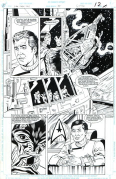Rod Whigham - DC Comics - Star Trek: The Tabukan Syndrome # 35 - Original Art Plate - Page 12 - (1992)