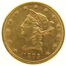United States - 10 Dollars Coronet Head - 1895 - gold