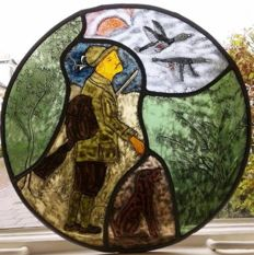 """Stained-glass window decoration """"de jager"""""""